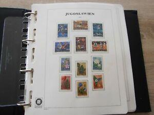 Jugoslawien 1971 - 90 komplett postfrisch im Vordruckalbum