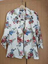 Floral Light Weight Blazer Jacket Tie Sleeves BNWT Size 12