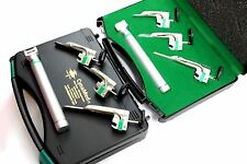 Set Of 3 Laryngoscope Miller Intubation Blades 00 01 Handle Small Anesthesia