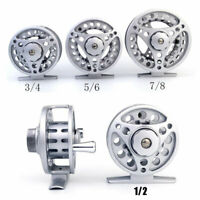 Fly Reel 1/2/3/4/5/6/7/8 WT Large Arbor Silver Aluminum Fly Fishing Reel
