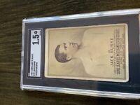 1887 Lorillards N269 Jack Burke Prizefighters SGC 1.5 Very Rare