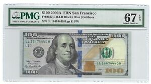 2009A $100 SAN FRANCISCO FRN, PMG SUPERB GEM UNCIRCULATED 67 EPQ BANKNOTE