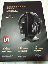 New listing 2.4g Rf Wireless Headphones for Tv Watching Listening, Artiste D1 Rechargeabl.