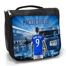 MACCLESFIELD CALCIO Lavare Borsa Custodia per la cura da uomo da viaggio * Personalizzata * AF80