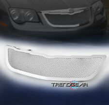 2004-2008 CHRYSLER CROSSFIRE FRONT UPPER STAINLESS STEEL MESH GRILLE CHROME 1PC
