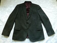 MARKS SPENCER mens SUIT JACKET tweed wool CHARCOAL 48 inches