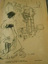 Je t'avais dit de t'acheter un corset blanc Dessin Poulbot humour Print 1904