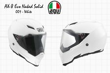 AGV - AX-8 EVO NAKED SOLID MOTORCYCLE FULL FACE HELMET - WHITE - SIZE S