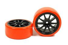 Drifträder Driftreifen 1:10 Schwarz Orange bunte Lauffläche Drift Räder Reifen