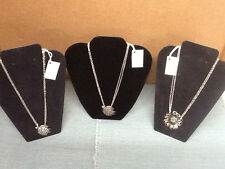 """NEW! SILVER SPOON JEWELRY Pendant with 18"""" Chain Necklace 3 Designs"""