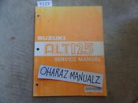 1983 SUZUKI ALT125 Service Manual OEM