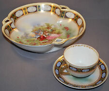 Vintage Bowl Cup and Saucer from Netherlands Marked A Jungerhans Rotterdam