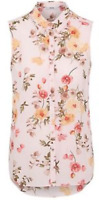 Ladies new ex george pink print shirt blouse size 8 10 12 14 16 18  24