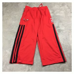 ADIDAS CHICAGO BULLS AUTHENTIC Team Warm Up Pants TEARAWAY L/XL Short VTG 2000s