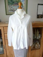 ETERNA Bluse Hemdbluse  Baumwolle Gr 40 -42 Zierknöpfe  oversize weiß wie neu