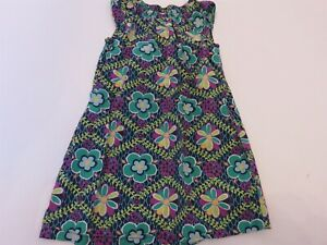 Hanna Andersson Girls Dress Large floral 130 US 8 EUC