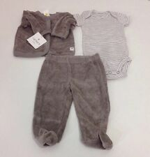 Carters Baby Little Layette 3 Pc. Set Fray 3m NWT