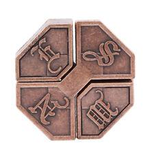 Traditional Metal Alloy Box Lock Puzzle Brain Teaser IQ&EQ Test Kids Adult Toy