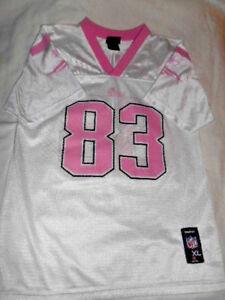 New England Patriots Reebok Wes Welker Football Girls Pink/White Jersey 16-XL