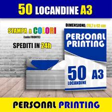 STAMPA 50 LOCANDINE A3 ( 29,7 X 42 cm ) A COLORI SU CARTA 135 GR