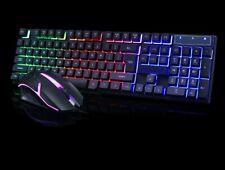 KIT Tastiera da gioco mouse PC, RGB LED,gaming keyboard.Rosso,blu,rosa,nero. cmk