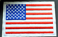 USA American Flag Stars Stripes Spangled Banner Embroidered Iron Sew On Patch