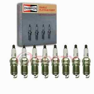 8 pc Champion Double Platinum Spark Plugs for 2001-2004 Avanti II 5.7L V8 dh