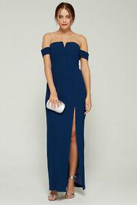AIDAN AIDAN MATTOX 320$ Off-The-Shoulder Evening Gown Black Size 12