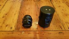 SMC Pentax-M Macro f1:4 50mm SLR Camera Lense With Skylight 1B Filter & Case