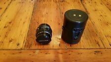 Cámara SLR SMC PENTAX-M MACRO f1:4 50mm Lente Con Filtro Skylight 1B Y Estuche