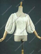 Victorian Romantic Lace Cotton Top Blouse Shirt Steampunk Theater Punk  N B026 S