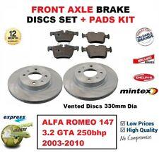 FOR ALFA ROMEO 147 3.2 GTA 250bhp 2003-2010 FRONT AXLE BRAKE PADS + DISCS 330mm