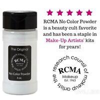 RCMA No-Color Powder 3oz Bottle FULL SZ Face Makeup Loose Setting Powder⭐️SEALED