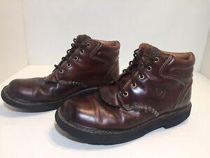 Ariat Women's Brown Leather Kiltie Chukka Boots Size 10 B