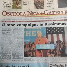 Local Newspaper Coverage HILLARY CLINTON in Kissimmee, Florida