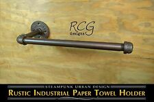 DIY Industrial Pipe Paper Towel Holder urban steampunk rustic decor