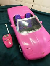 BARBIE LARGE HOT PINK CONVERTIBLE CORVETTE  REMOTE CONTROLLED CAR 2001