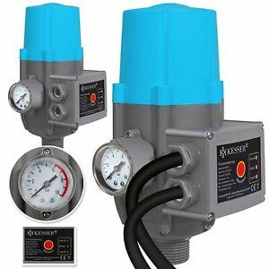 KESSER® Druckschalter Pumpensteuerung Druckwächter Baranzeige mit/ohne Kabel NEU
