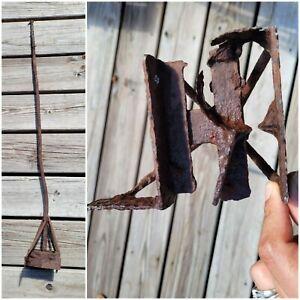 "Vintage Antique Hand Forged Cattle Livestock Branding Iron ""RL"" Western Decor"