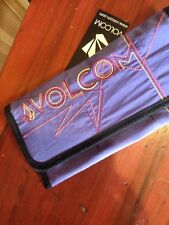 NEW VOLCOM Line Dance Wallet clutch Tri-Fold BLACK/BLUE