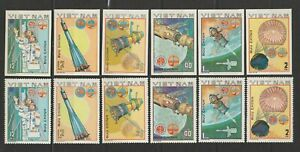 Vietnam Stamps Space Mission Collection Sc # 1063-1068 Impert + Perforated