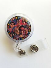 Disney COCO Miguel and Family,  Retractable Badge Name Tag ID Holder Glitter 3D