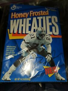 Deion Sanders Unopened Honey Frosted Wheaties Cereal Box 1996 Dallas Cowboys