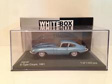 Jaguar E Type Coupe 1961 Light Blue Metallic 1:43 Scale Whitebox