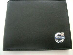 Volvo Calf's Leather Bi Fold Mens Black Wallet