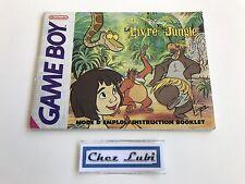Notice - Le Livre De La Jungle - Nintendo Game Boy - PAL FRA 2