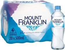 Mount Franklin Still Water 20 x 500mL - FREE SHIPPING!