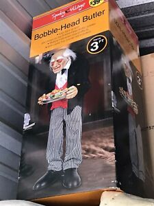"""Halloween Stand Up Animated Creepy Old Man Butler Greeter 38"""" Tall"""