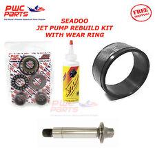 SEADOO Jet Pump Rebuild Kit Wear Ring Impeller Shaft Oil 2001 GTS/ 3D DI