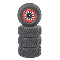 RC 4Pcs 1:10 Short Course Truck Tires&BeadLock Wheel For TRAXXAS Slash Car Truck